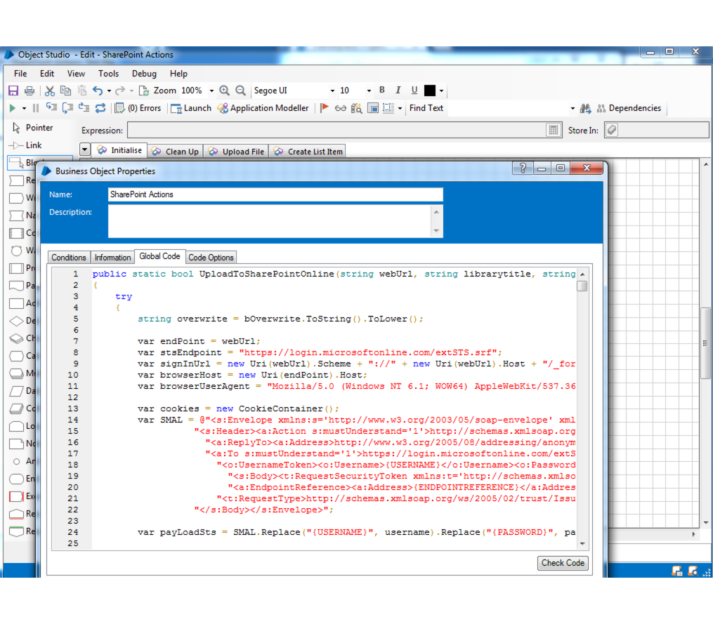 Sharepoint Actions for Blue Prism