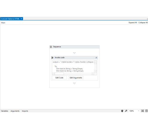 UiPath :: Convert Table to HTML for UiPath Studio
